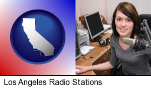 a female radio announcer in Los Angeles, CA