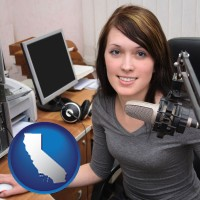 california a female radio announcer