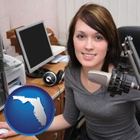 florida a female radio announcer