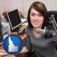 idaho a female radio announcer