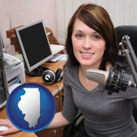 illinois a female radio announcer