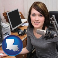 louisiana a female radio announcer