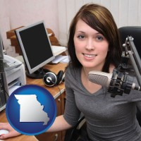 missouri a female radio announcer