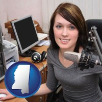 mississippi a female radio announcer