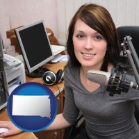 south-dakota a female radio announcer