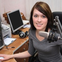 a female radio announcer